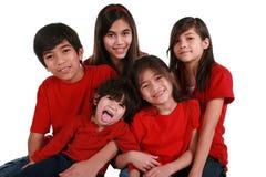fem syskon Arkivfoton