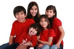fem syskon Royaltyfri Fotografi