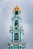 Fem-tiered Lavra Bell Tower som byggs i åren Royaltyfri Fotografi
