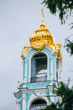 Fem-tiered Lavra Bell Tower som byggs i åren Arkivbild