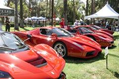 Fem toppna Ferraris visas på Sanen 2019 Marino Motor Classic royaltyfri fotografi