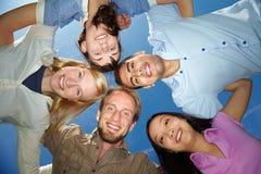 fem vänner Arkivfoto
