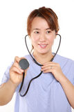 Fema doctor with stethoscope Stock Image