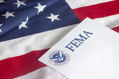 FEMA US Homeland Security and Flag Stock Photos