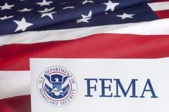 FEMA US Homeland Security Form Stock Image