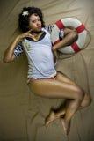 Femail atrativo no terno de marinheiro Imagem de Stock