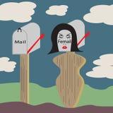 Femail-Kasten Lizenzfreies Stockbild