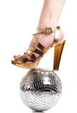 Femail Leg On Discoball Royalty Free Stock Photography