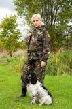 Femail na caça. Fotos de Stock Royalty Free