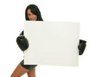 femal的拳击手 库存图片