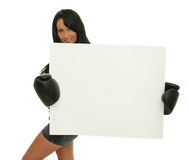 femal boxare Arkivbilder