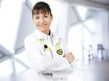 Femal doctor portrait Stock Images