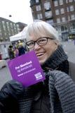 FEMAL WITH NO VOTE _STEM NEJ Stock Photos