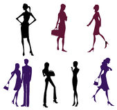 Femal silhouette Royalty Free Stock Image