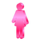 Female. Vector female 3d icon -isolated Royalty Free Stock Photo