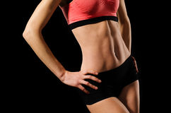 Female abdominals. With muscular press Stock Photography