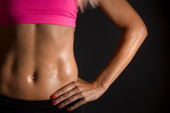 Female abs Royalty Free Stock Images