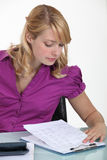 A female accountant Royalty Free Stock Images