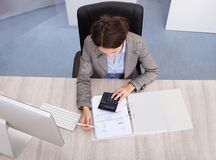 Female accountant Stock Photography