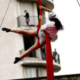 Female acrobat. Stock Images
