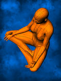 Female Acupuncture Model GF-POSE Yp-06-8, 3D Illustration stock images