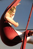 Female Aerial Acrobat Relaxing Royalty Free Stock Photography