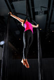 Female Aerialist Belay Loop Iron Cross Stock Photography