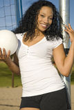 Female African-American Vollyball Player Stock Images