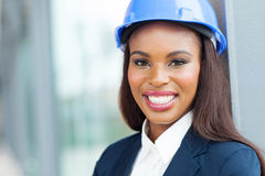 Female african architect Royalty Free Stock Images