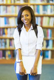 Female african college student Royalty Free Stock Photos