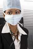 Female african doctor office stock image