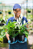 Female african florist Stock Photos