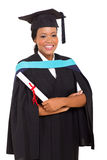 Female african graduate stock photo