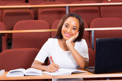 Female african university student classroom Stock Photos