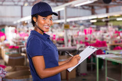 Female african worker Stock Image