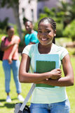 Female afro american university student Stock Images