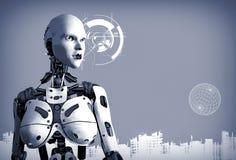 Female AI Cyborg Graphic royalty free illustration