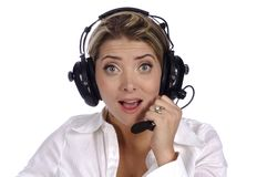 Female Air Traffic controller Royalty Free Stock Photography