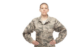 Female airman with hand on hips Stock Photography
