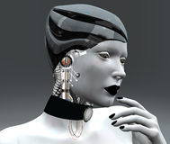 Female android. A wonderful femal android portrait Royalty Free Stock Photos