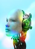 Female android head Stock Photo