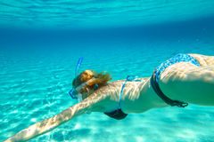 Female apnea bikini Royalty Free Stock Photo