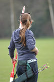 Female Archer 2. Female archer with long bow Stock Image