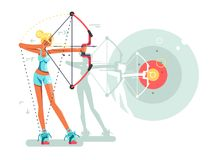 Female archer character Stock Image