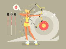 Female archer character Stock Photography
