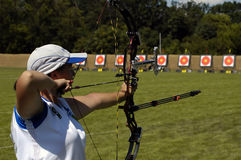 Female archery Royalty Free Stock Photography