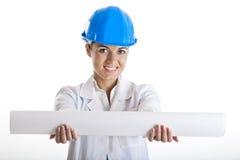 Female architect Stock Photography