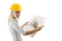 Female architect Stock Images