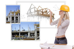 Female architect Royalty Free Stock Photography