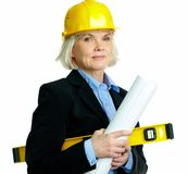 Female architect Royalty Free Stock Image